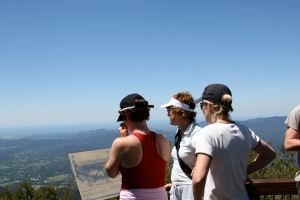 Taking in the view from the summit of Mt Warning