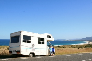 Touring the Freycinet Peninsular by motorhome