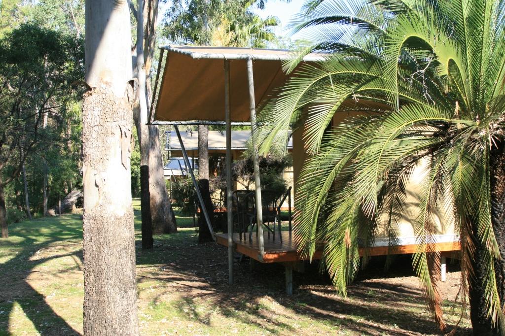 Safari-style tent at Takarakka Bush Resort