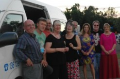 On the road for the Capricorn Literary Festival with Ron Day, Paul Collins, Kevin Burgemeestre, Meredith Costain, Krista Bell, Judith Rossell, Royce Bond, Michael Gerard Bauer, Elaine Ouston and Susanne Gervay (who took the photo).
