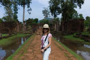 Julie Fison in Cambodia