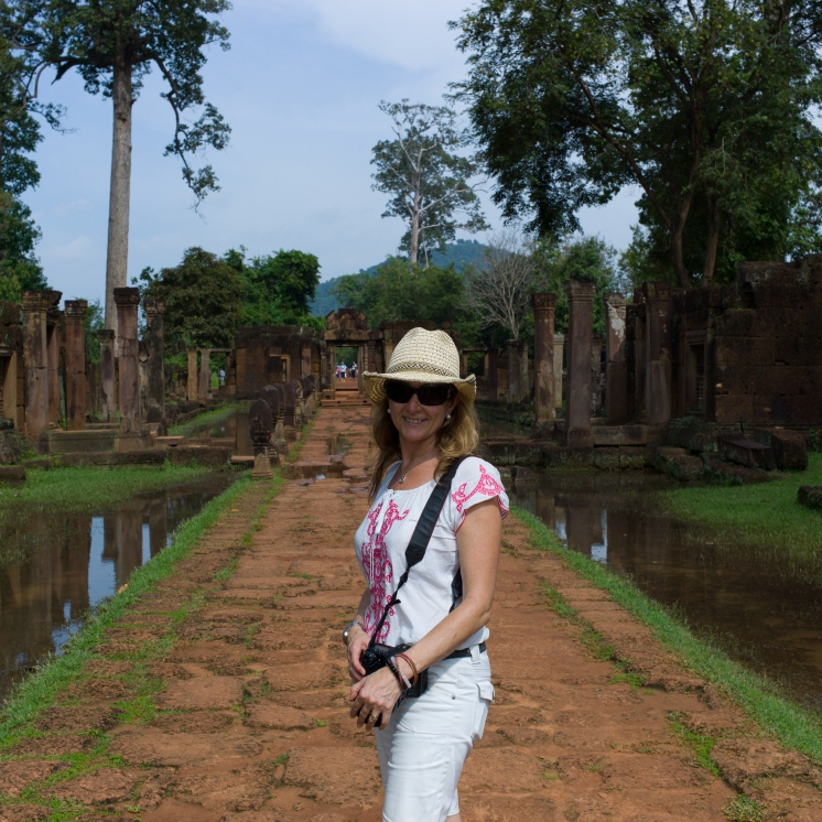 Julie Fison in Cambodia