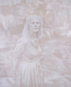 Penelope Seidler, by Fiona Lowry, Archibald Prize 2014