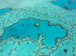 Heart-shaped reef, Queensland