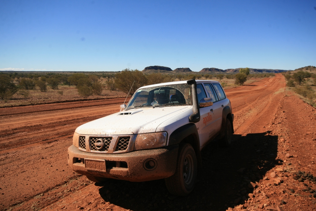 Driving from Alice Springs to Uluru via the Mereenie Loop