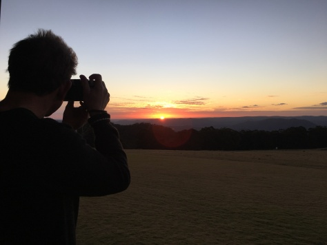 Sunset from Spicers Peak Lodge, Scenic Rim