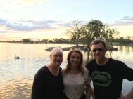 Meredith Costain, Julie Fison and Paul Collins at Rockhampton Botanic Gardens