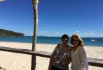 Marjory Gardner and Julie Fison taking a break from the Central Queensland Literary Festival on Great Keppel Island