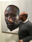 Archibald Prize 2016 finalist Nick Stathopoulos with 'Deng' , Art Gallery of NSW