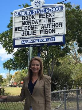 Julie Fison at Sunbury State School, Maryborough
