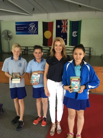 Maryborough West State School leaders and Julie Fison