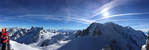 The view from Aiguille du Midi
