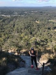 Julie Fison tackling Mt Cooroora