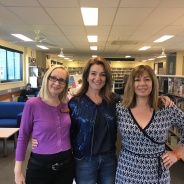 Julie Fison with staff at Faith Lutheran College, Redlands, Queensland