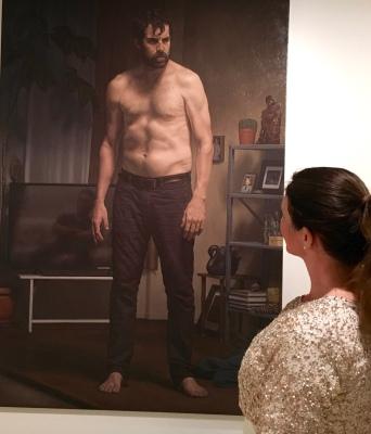 Archibald 2017 finalist, Marcus Wills: 'Protagonist, antagonist (Thomas M Wright)'