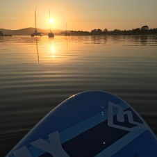 Stand up paddle boarding on the Noosa River