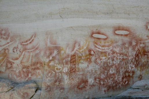 Cave paintings at Carnarvon Gorge, Queensland