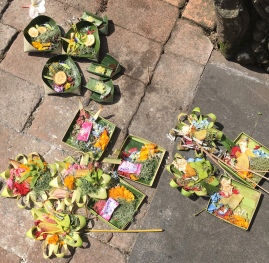 Offerings at a temple in Bali